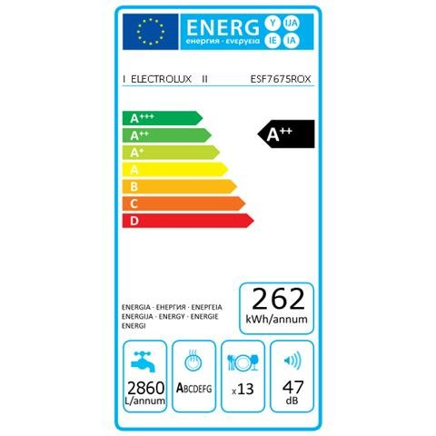 Electrolux Lavavajillas ESF7675ROX RealLife Energy Smart Clase A ...