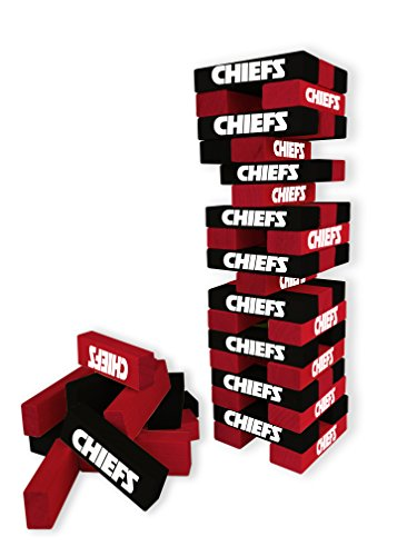 Wild Sports NFL Kansas City Chiefs Table Top Stackers Game