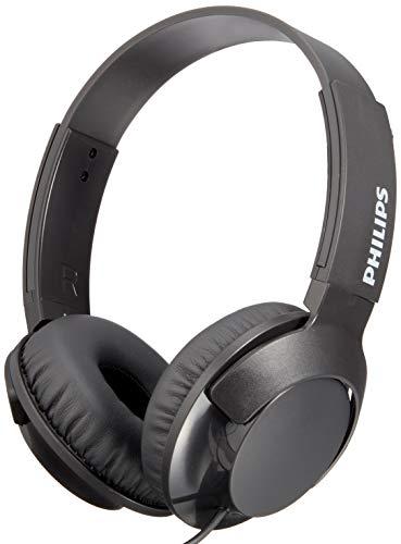 (PHILIPS On-Ear Headphones SHL3075BK (BLACK)Japan Domestic genuine products)