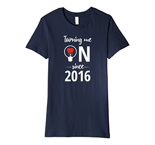 Womens 1st Wedding Anniversary T-Shirt Funny For Married In 2016 L Large Navy