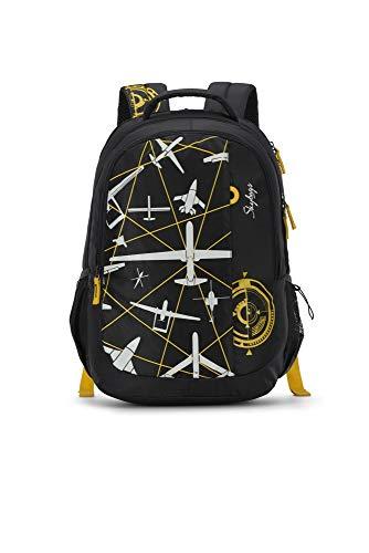 Skybags Figo 03 32 Ltrs Black Casual Backpack (FIGO 03)