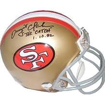 "Dwight Clark signed San Francisco 49ers Replica TB Mini Helmet ""The Catch"" 1.10.82 - Autographed NFL Mini Helmets"