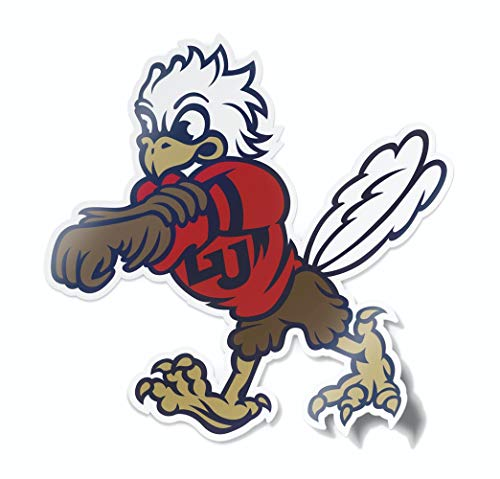 Nudge Printing NCAA Vintage Popular Car Decals from (Liberty University Sparky Mascot) (University Decal)