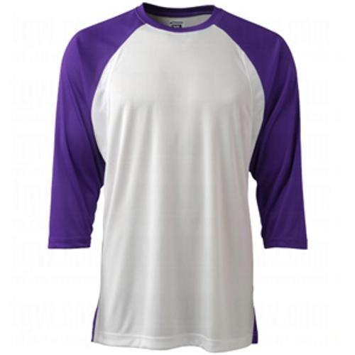 Champro Youth dri-gear Complete 3 / 4スリーブゲームシャツ B00HVNO5IM X-Large パープル パープル X-Large