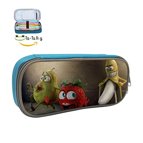 Case Pen Bag Makeup Pouch Durable Students Cool Various Stationery with Double Zipper ()