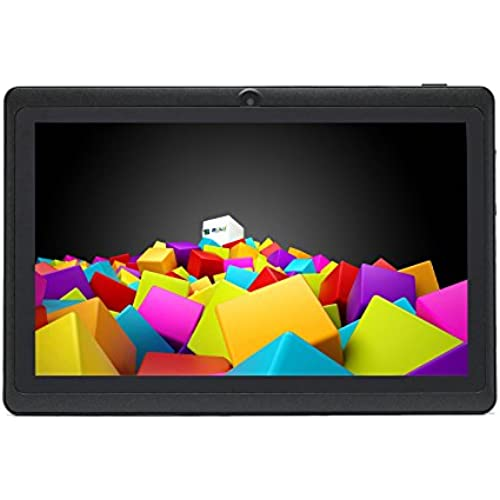 iRULU eXpro X1 7 Inch Quad Core Google Android 4.4 Tablet PC, 1024 x 600 Resolution, with Dual Cameras, Wi-Fi, Games, 8GB Nand Flash (Black) Coupons