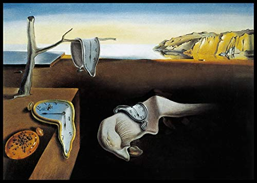 INVIN ART Framed Canvas Giclee Print Art The Persistence of Memory, 1931 by Salvador Dali Wall Art(24