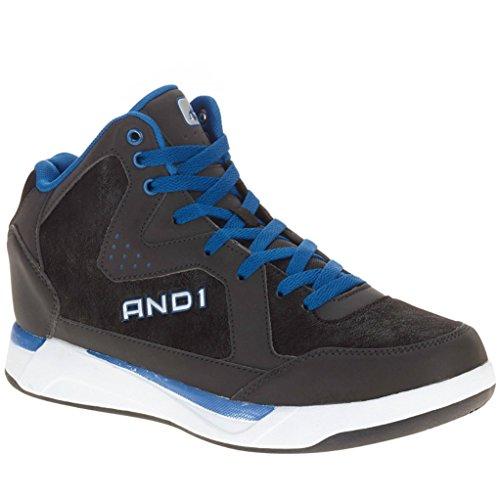 AND1-Mens-Ambassador-Basketball-Black-Blue-Hightop-Shoe-95M