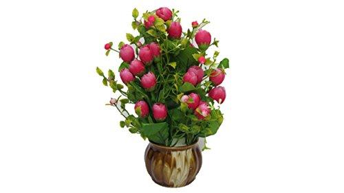 Buy Flower Home Plastic Decoration Flower Vase With Plastic Flowers