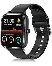 Smartklocka, fitnessmätare med pulsmätare i blodsyre stegräknare samtalspåminnelse anti-förlorat armband svart
