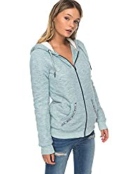Roxy Womens Roxy Trippin Sherpa - Zip Up Hoodie - Women - S Pacific Heather S