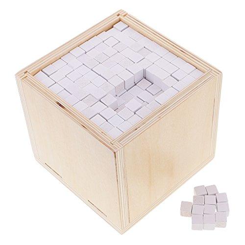 Sharplace Jeu Educatif Enfant Montessori Mathématiques 1000pcs Cube Géométrique et Etui en Bois Kit Jouet d'Apprentissage Précoce