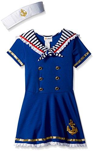 Sailor Girl Halloween Costume (California Costumes Sunny Sailor Girl Costume, Blue/White, Medium)