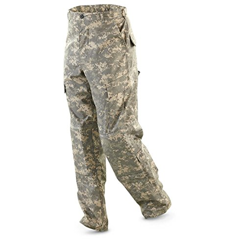 Military Outdoor Clothing Previously Issued ACU Trouser, Small/Long, Camouflage