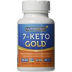 Nutrigold 7-Keto Gold (Clinically-proven 7-Keto), 100 mg, 60 veg. capsules