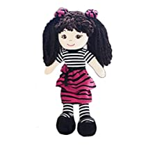 GirlznDollz 600550 Jessica Zebra Print Dress up Doll, Pink, Hot