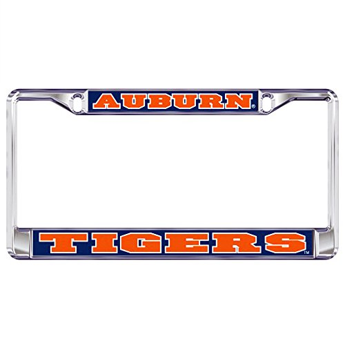Auburn Tigers Domed Metal License Plate Frame (Auburn Tigers Chrome License Plate)