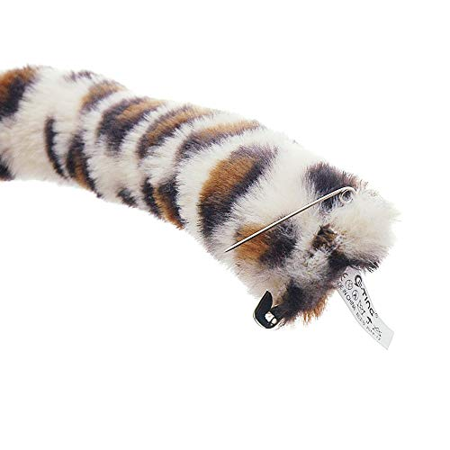 E-TING Cat Fox Long Fur Ears Headband Anime Party Costume 15 Different Colors (Cute Leopard Tail)