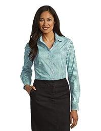 Port Authority Women's Long Sleeve Gingham Easy Care Shirt
