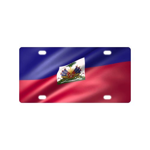 Haiti Animated Flag License Plate with-12