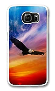 VUTTOO Rugged Samsung Galaxy S6 Case, Flying Eagle Dramatic Sky Case for Samsung Galaxy S6 PC Transparent