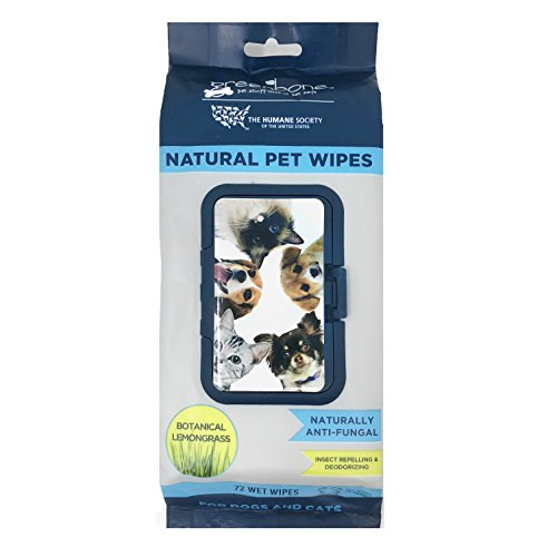 Humane Society All Natural Pet Grooming Wipes   72 Count