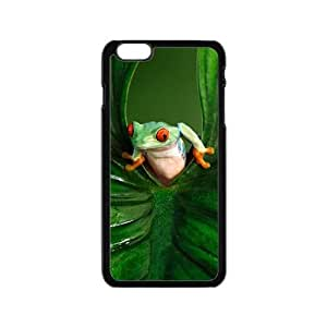 Green leaves and unique frog Cell Phone Case for Iphone 6