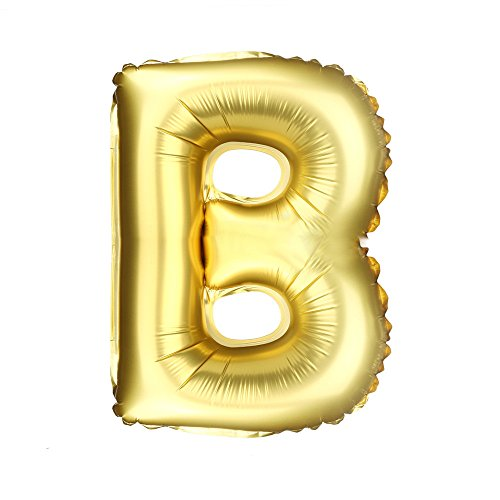 Fancy Dress Letter B (CSSD New 16 inch A to Z Letter Foil Balloons Party Ballon Gold Color (B))