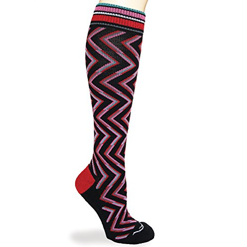 ((Size Large) Merino Wool Graduated Compression Socks - Good for Flight Travel Sports Nurse Pregnancy Arthritis Varicose Veins, Running Nursing, Leg Pain, Boosting Circulation Reducing Swelling)