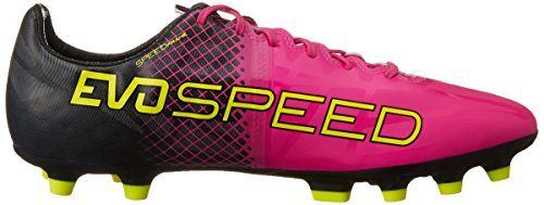 Puma evoSPEED 1,5 trucchi base ball scarpa uomo AG, Rosa (Pink (pink glo-safety yellow-black 01)), 11.5 UK - 46.5 EU