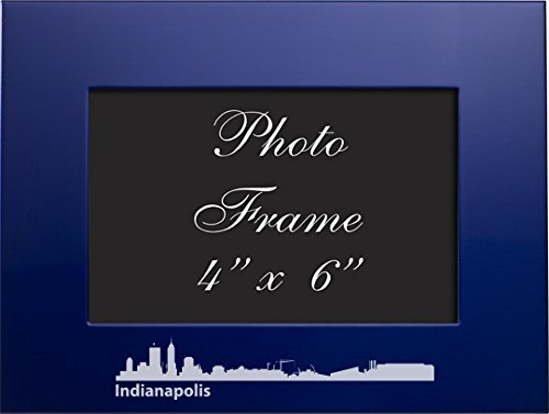 LXG, Inc. Indianapolis, Indiana-4x6 Brushed Metal Picture Frame-Blue