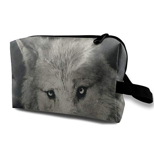 Love beautiful Makeup Bag Halloween Mystical Wolf Handy Travel Multifunction Cosmetic Bags Custom Personalized Storage for Girls