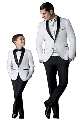 Groom Tuxedos Men's Wedding Dress Prom Suits Father and Boy Tuxedos Men's Suits by Brightmenyouth