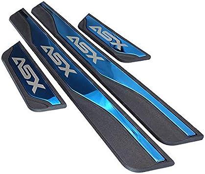 Gemmry 4-Teilige Auto-Schwellenstange F/üR Mitsubishi ASX 2011-2020 T/üRschwellenaufkleber Streifenschutz Abnutzungsplatte Willkommen Pedalschutzaufkleber Zubeh/öR