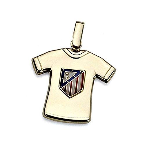 Shirt pendaison Atletico Madrid loi bouclier 18k 22mm d'or. [8441]