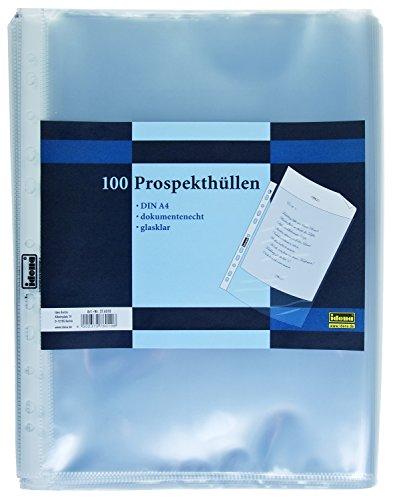 100 Prospekthüllen DIN A4 Klarsichthüllen