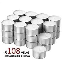 Cia&Co Pack 108 Velas de té XXL Larga