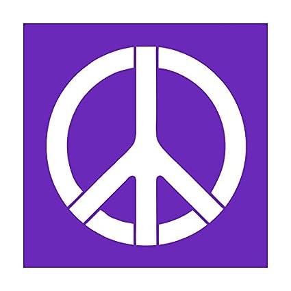 Amazon Auto Vynamics Stencil Hippie Peace Sign Peace Sign