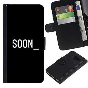All Phone Most Case / Oferta Especial Cáscara Funda de cuero Monedero Cubierta de proteccion Caso / Wallet Case for Samsung Galaxy S6 // Soon Cyber Computer Black White Text