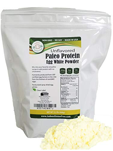Egg White Protein Powder (2.2 LBS)(Non-GMO,Soy Free), Made in USA, Produced from the Freshest of Eggs (4 lb and 40 lb Bulk Size Options Also Available Click to See)
