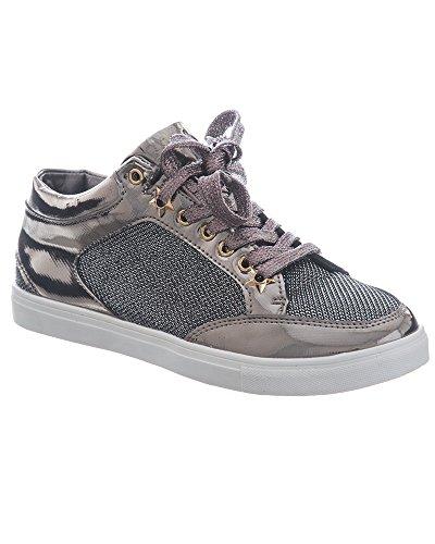 Damen Sneaker, Schwarz - Schwarz - Größe: 40 Shelikes