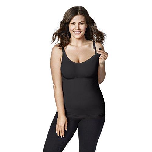 Bravado! Designs Women's Maternity Body Silk Seamless Nursing Cami, Black, (Design Camisole)