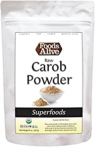 Foods Alive Organic Carob Powder, Raw, 8 Ounce