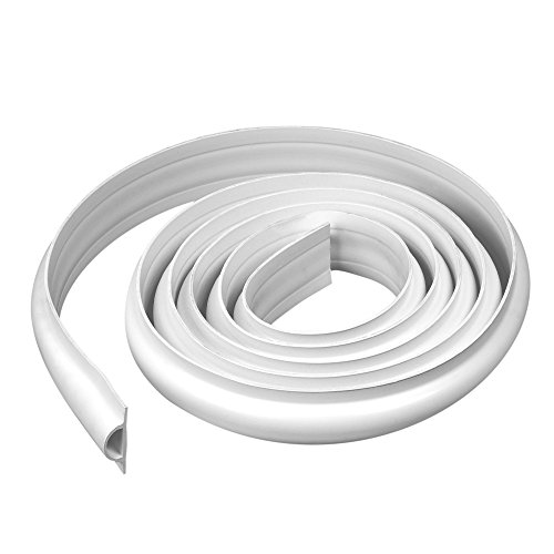 Dimex EasyFlex Plastic D-Profile Dock Edging, 25-Feet, White (5011W-25C)