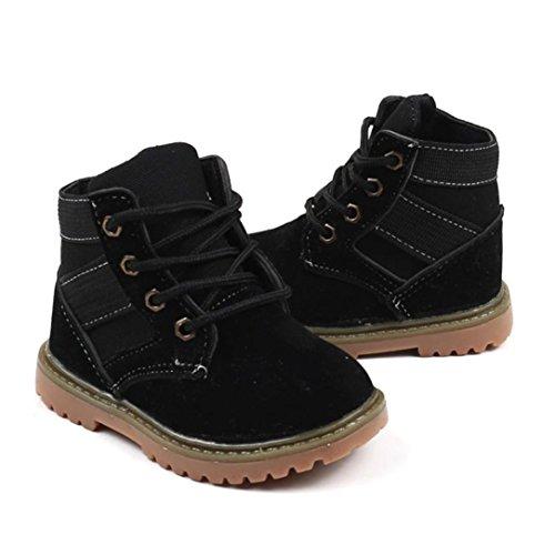 Mode Schwarz Schuhe Stiefel Martin Kinder Britische Winter Herbst Und Rutschfeste Lässige Stiefel Rutsch Anti TPulling Stiefel Z6BtTq