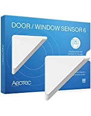 Aeotec Door / Window Sensor 6 with Rechargeable Battery, Z-Wave Plus ON/OFF Magnetic Detector for Home Security Protection & Automation, Burglar Alert, Paintable Design