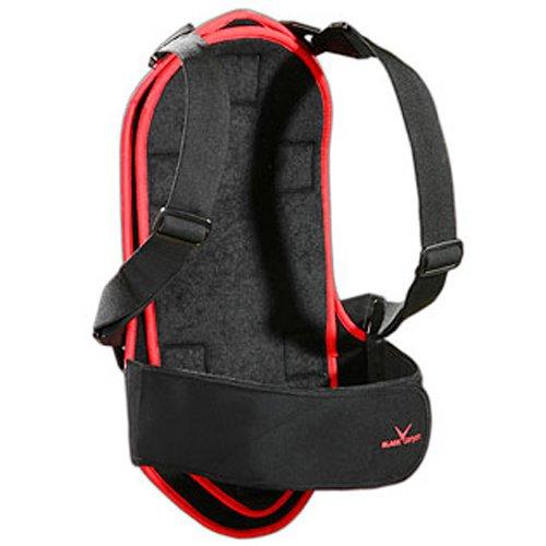 Black Canyon Rückenprotektor für Kinder und Erwachsene, schwarz/rot/silber, XL