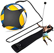 Volleyball Trainer - Delaman Solo Volleyball Training Aid Hands Free with Adjustable Waist Belt 1PC