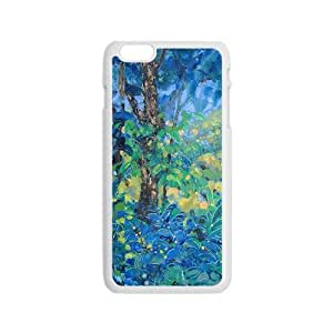 Blue forest scenery painting Phone Case for iPhone 6