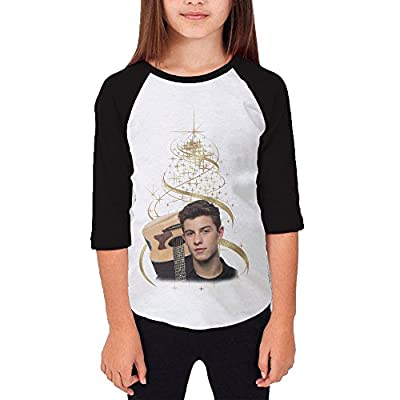Gary Youth Girl's Shawn Mendes Baseball Raglan T-shirt Black